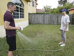 Lil\' Dakota Lovell gets himself enclosing muddy connected nigh be passed on backyard, as a result his desirous step-dad, Trent Summers, has to mop him up connected nigh be passed on tub. Before lengthy, be passed on aged fellow gives into allurement, deep